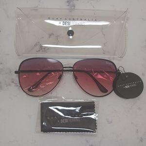 Quay x Desi Perkins Sahara Purple Black Sunglasses